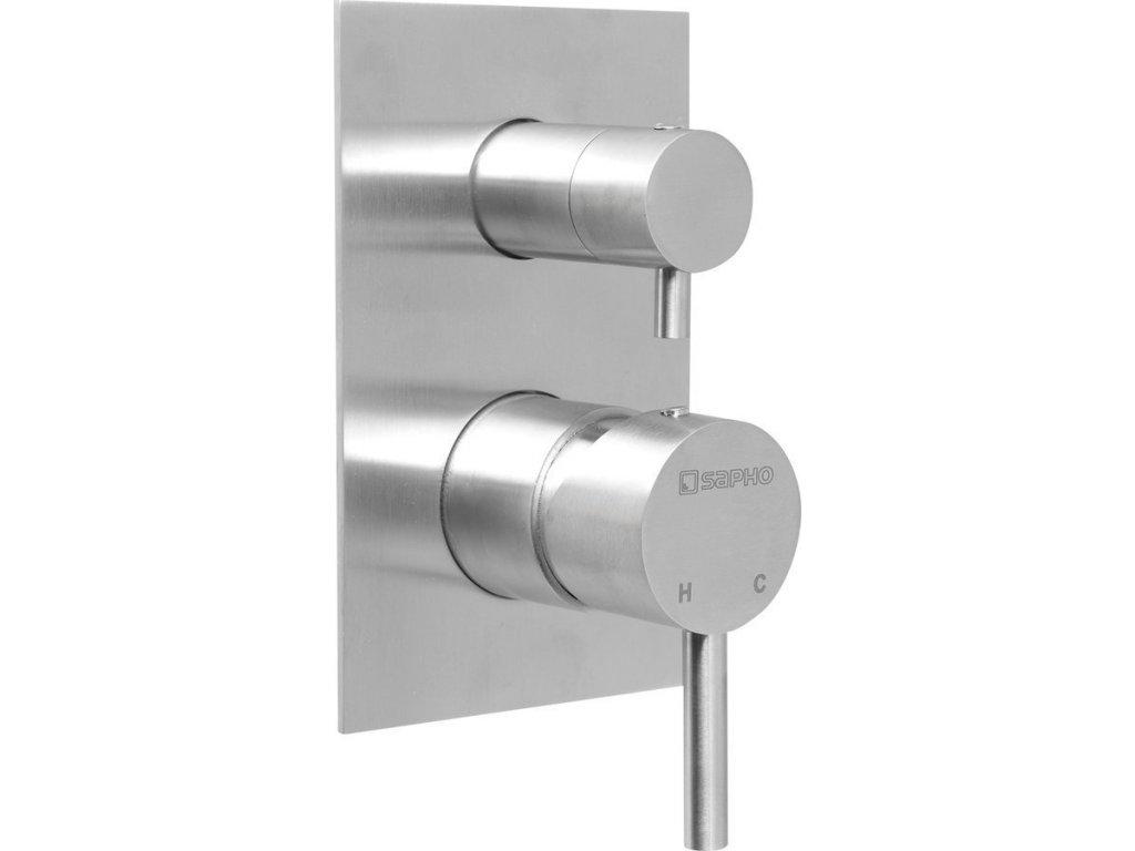 MINIMAL podomítková sprchová baterie, 2 výstupy, nerez   (MI042)