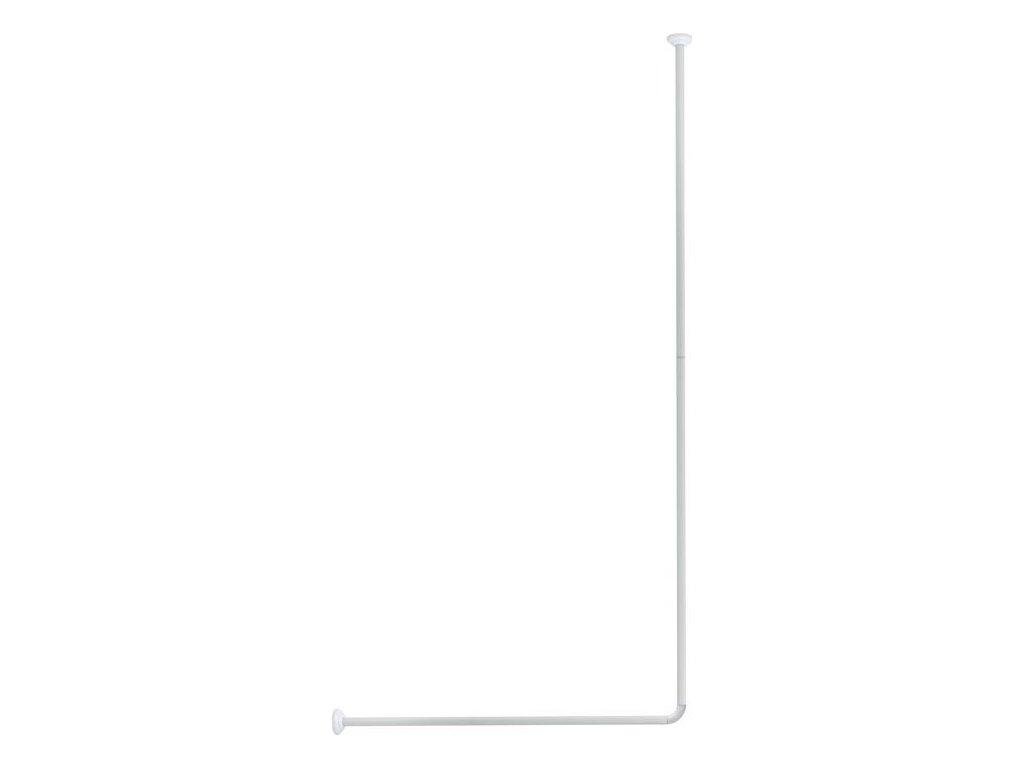 Olsen Spa rohová tyč ke sprchovému závěsu bílá 80x94-180cm KD02100816