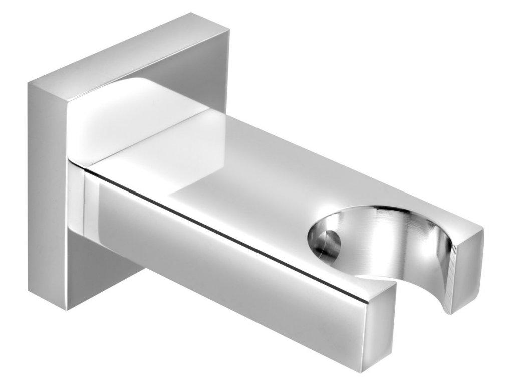 FIX pevný držák sprchy, hranatý, chrom AQ586