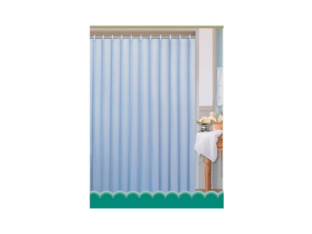 Závěs 180x200cm, 100% polyester, jednobarevný modrý   (0201104 M)