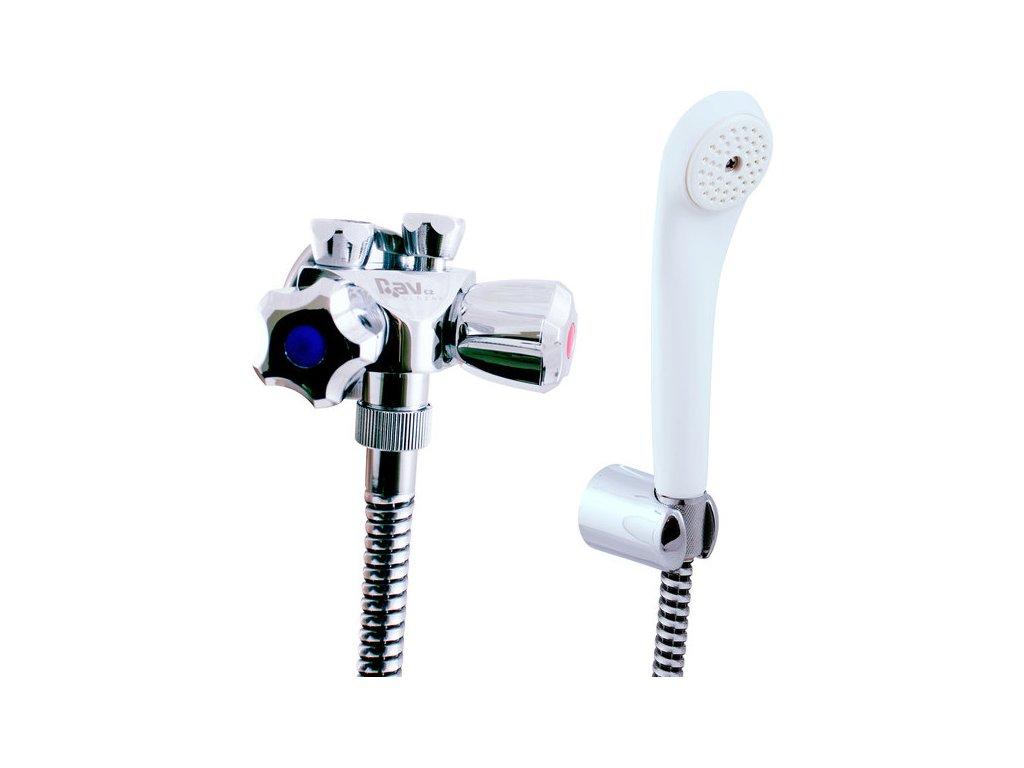 Slezák Rav Baterie klasická sprchová s příslušenstvím pro nízkotlaké ohřívače – připojení na flexi hadice EN080/1