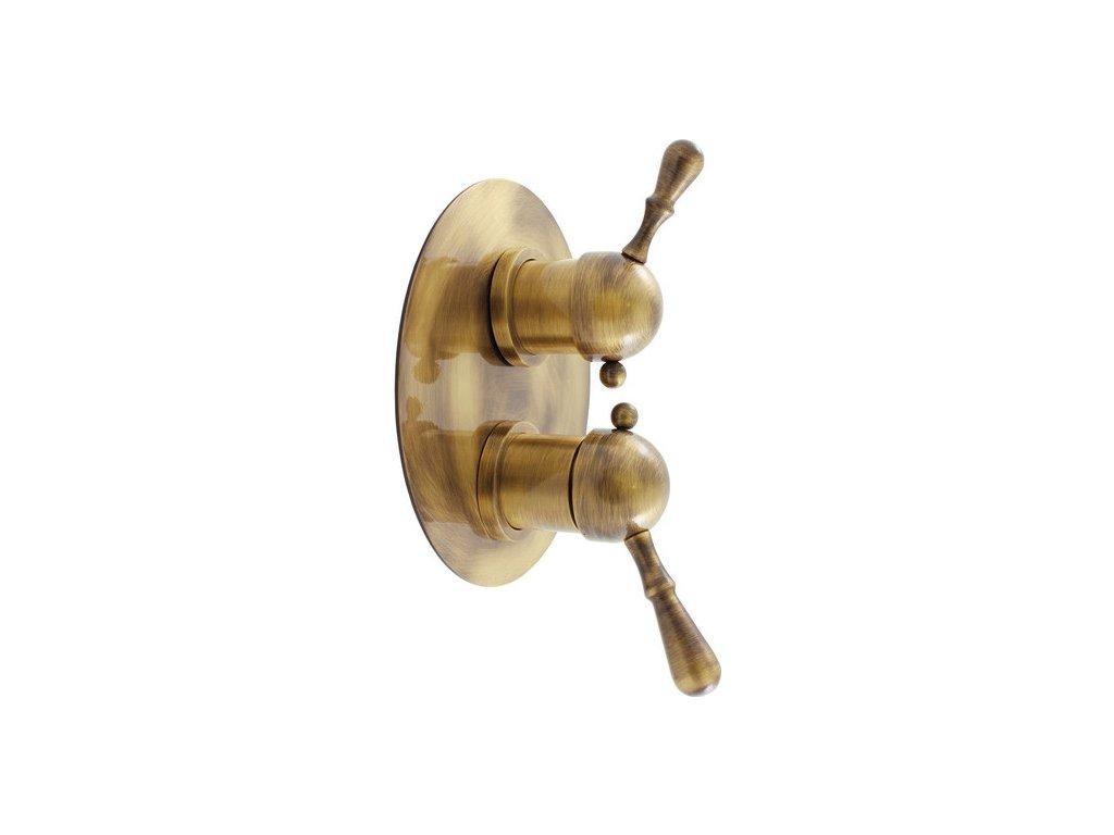 Slezák Rav LABE Baterie sprchová vestavěná s keramickým přepínačem – stará mosaz L086SM
