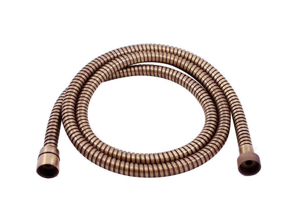 Slezák Rav sprchová hadice 150 cm – kov – stará mosaz MH1502SM