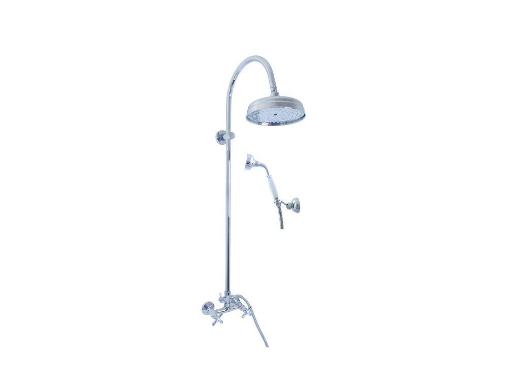 Slezák Rav MORAVA Baterie sprchová s hlavovou a ruční sprchou (KS0020+KS0017+MD0011+MH1503+MD0695+MD0629) MK181.5/3