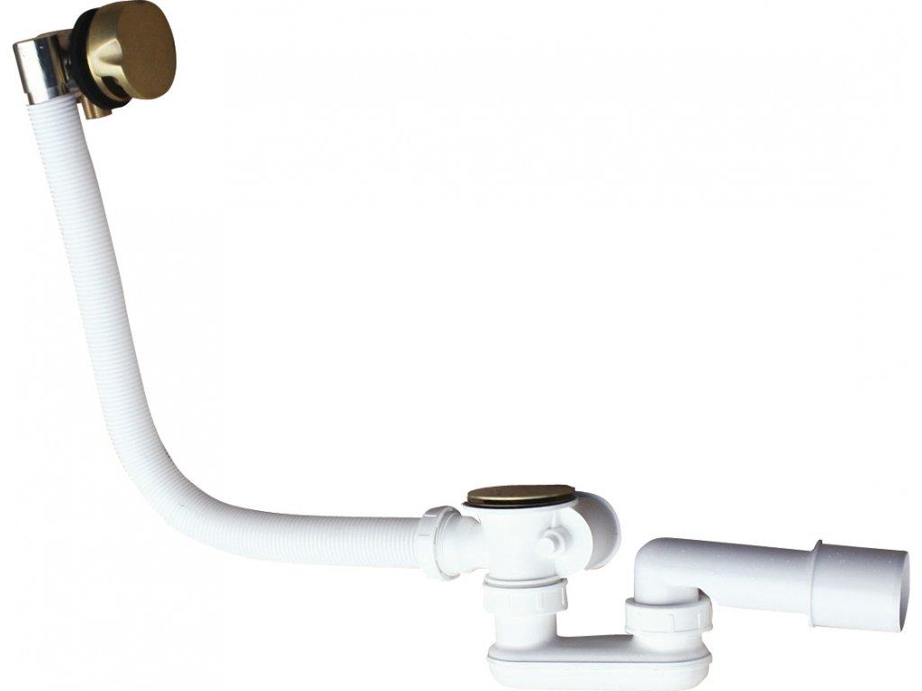 Slezák Rav napouštění vany přepadem a automatickým otvíráním, velká zátka – 570 mm – stará mosaz NP0002/570SM