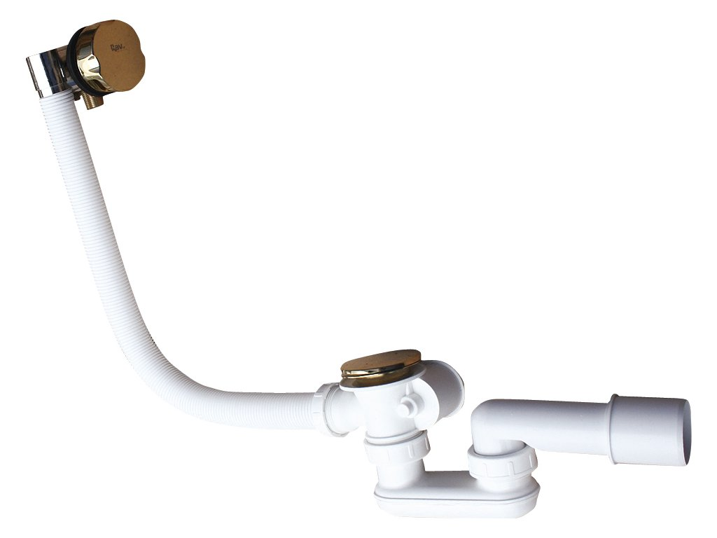 Slezák Rav napouštění vany přepadem a automatickým otvíráním, velká zátka – 570 mm – zlato NP0002/570Z