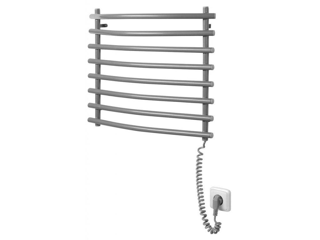 Elektrický sušák ručníků, 570x465 mm, 72 W, šedý hliník - metalíza (RAL9007)  VÝPRODEJ