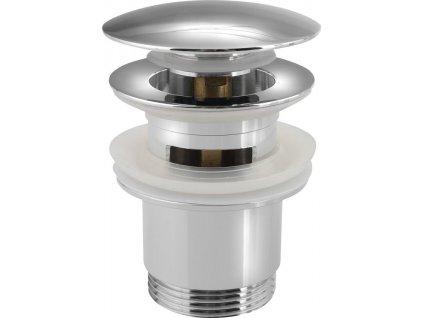 Uzavíratelná kulatá umyvadlová výpusť kliklak, velká zátka, chrom CV1007  Na tento produkt poskytujeme množstevní slevu