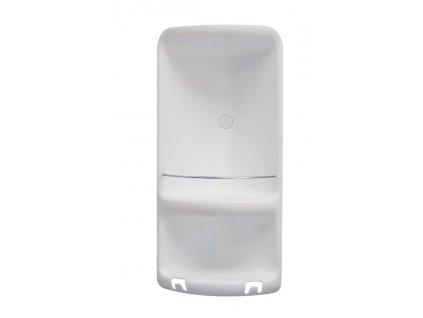 CAESAR dvoupatrová rohová polička do sprchy 226x473x160 mm, ABS plast, bílá 7080  Koupelnové doplňky v bílé barvě