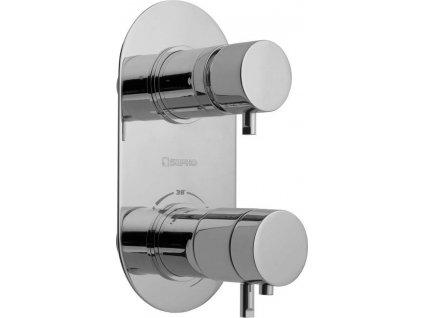 RHAPSODY podomítková sprchová termostatická baterie, 2 výstupy, chrom 5585T  Dlouholetý bestseller v bateriích, který má na výběr bezpočet variací
