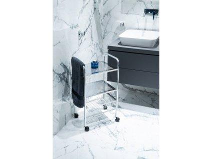 Olsen Spa Třípatrová pojízdná police do  koupelny KDD02040022