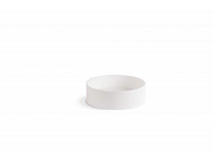Lineabeta umyvadlo 400mm kulaté na desku bílé matné 53564.26