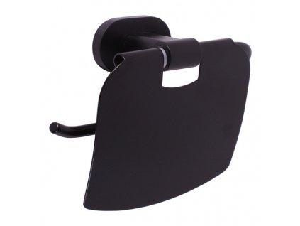 Slezák Rav Držák toaletního papíru s krytem – černá matná YUA0400CMAT