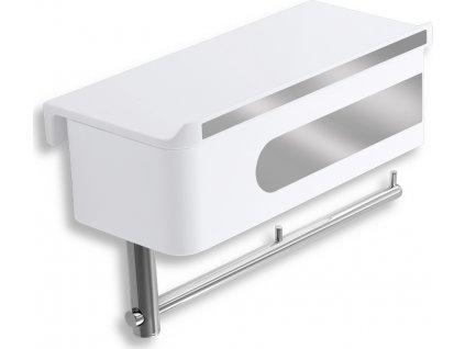 Novaservis Yacore WC polička se zásuvkou a držákem toaletního papíru 65538,1