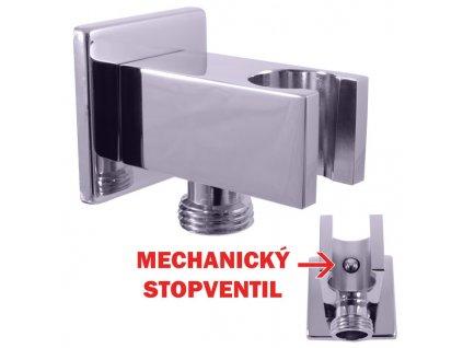 Slezák Rav držák sprchy s integrovaným STOP ventilem MD0751  hranatý tvar
