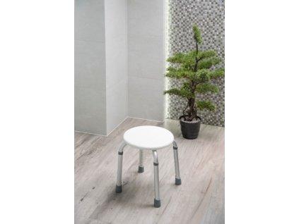 Olsen Spa sprchová stolička kulatá 32 x 32 x 35,5 - 55,3 cm KD02331408