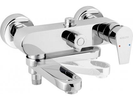 Novaservis Nobless VISION X chrom vanová sprchová baterie 150 mm 42023/1,0  Otočné rameno funguje jako přepínač vana /sprchy