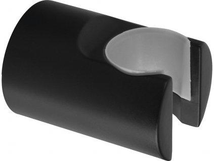 Držák sprchy kulatý, pevný, černá mat SD715