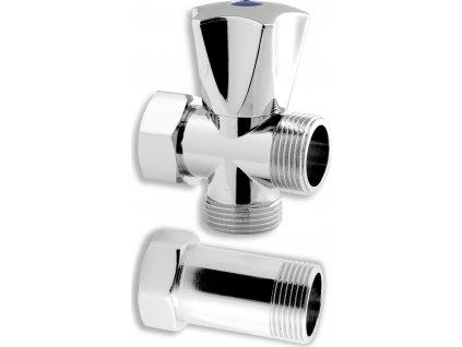 "Novaservis pračkový ventil s mezikusem 3/4""x3/4""x3/4"" CF3019"