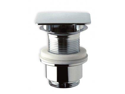 Neuzavíratelná hranatá výpusť pro umyvadla bez přepadu V 30-45mm, chrom 447.555V  VÝPRODEJ