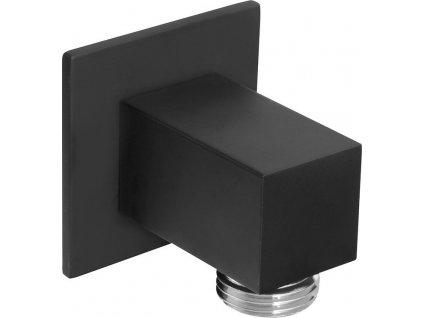 Vývod sprchy, hranatý, tenká krytka, černá mat SG302NE
