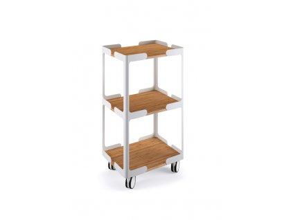 lineabeta careto pojizdny vozik s polickami hlinik bambus 5450 09