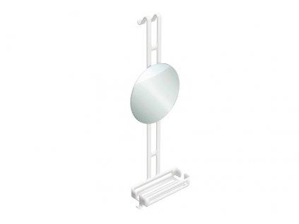 lineabeta regolo zavesny sprchovy kos se zrcadlem hlinik 50036 09