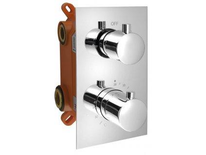 KIMURA podomítková sprchová termostatická baterie, box, 2 výstupy, chrom KU382
