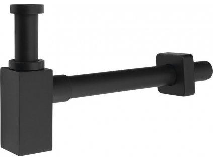 Umyvadlový sifon 1'1/4, odpad 32mm, hranatý, černá FK638B