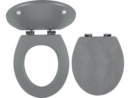 Novaservis WC sedátko, MDF s potiskem, panty kov-chrom WC/SOFTSTONE2