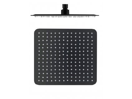 slezak rav hlavova sprcha hranata kovova 30x30 cm cerna matna ks0004cmat