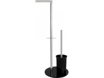 Olsen Spa WC štětka + držák papíru, nerez a černá barva KD02071576