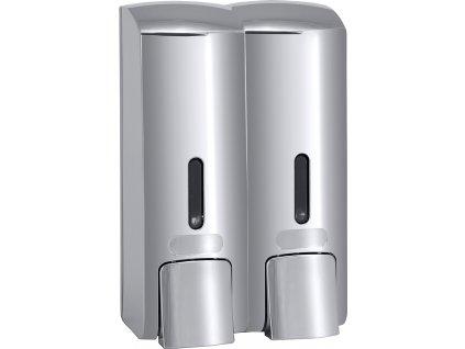 Bemeta Dvojitý Dávkovač tekutého mýdla plast lesk, 2x300 ml, 121209132V
