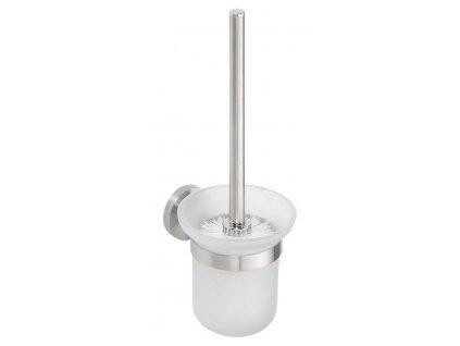 X-STEEL WC štětka nástěnná, broušený nerez XS301