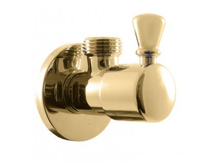 Rav rohový ventil s keramickým vrškem zlato ROH001Z