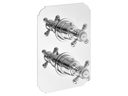 SASSARI podomítková sprchová termostatická baterie, 2 výstupy, chrom (LO89163) SR392