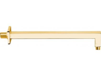 Sprchové ramínko hranaté, 400mm, zlato BR317