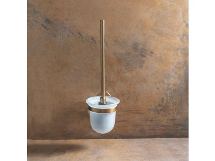 Bemeta AMBER: WC štětka miska sklo, černý kartáč 155113017