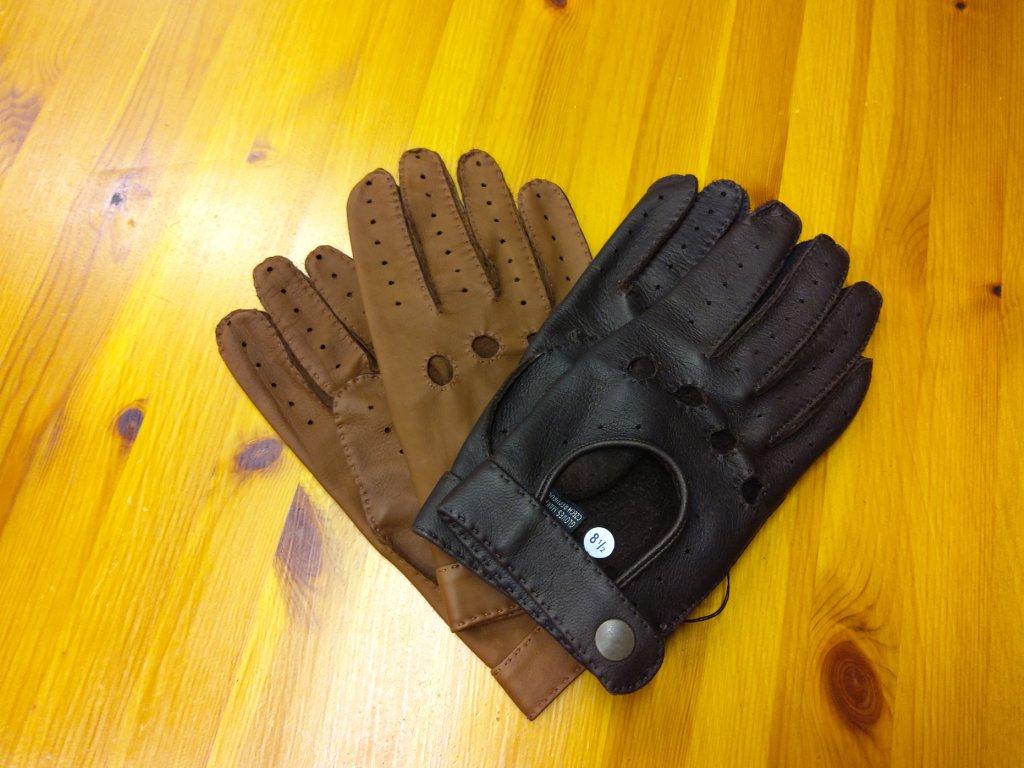 Řidičské rukavice pánské - ručně šité