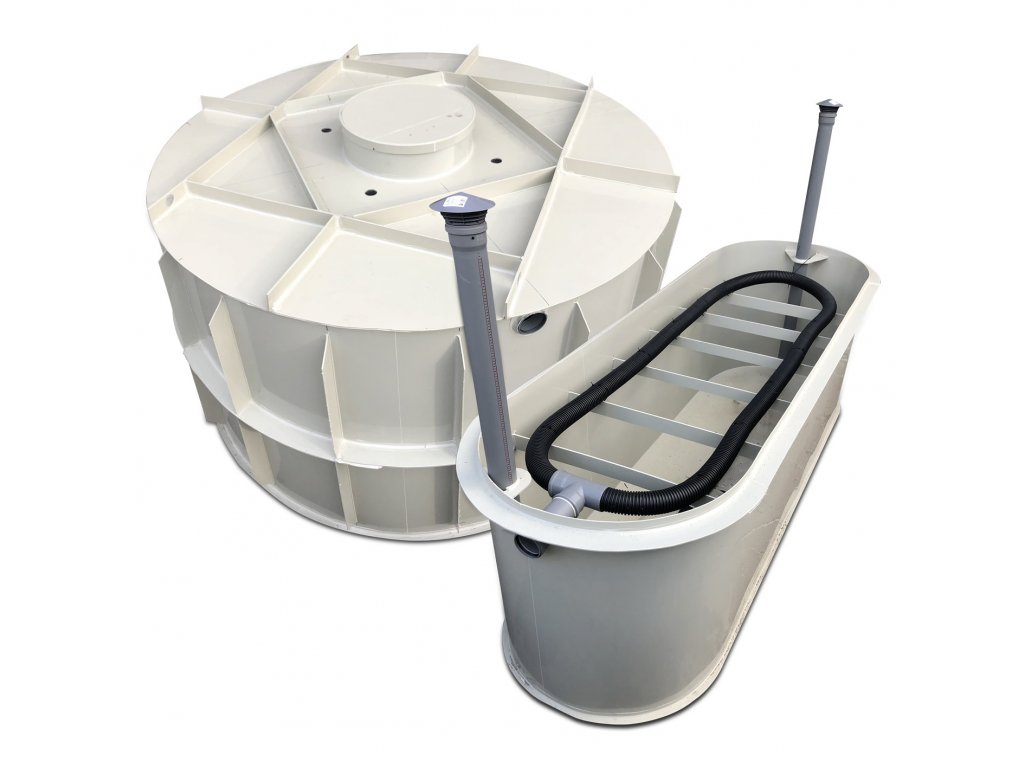 samonosný tříkomorový septik s pískovým filtem pro 8 osob