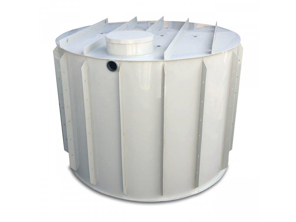 9m3 kruhová nádrž na vodu k obetonování