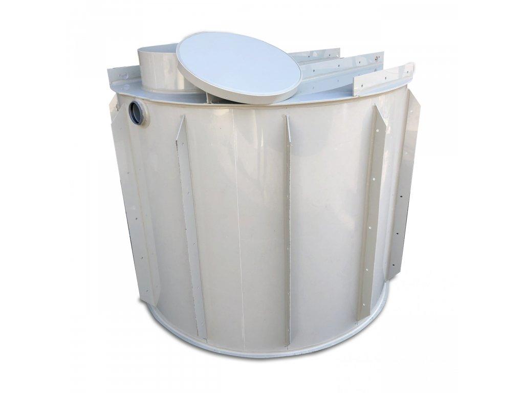 7m3 kruhová nádrž na vodu k obetonování