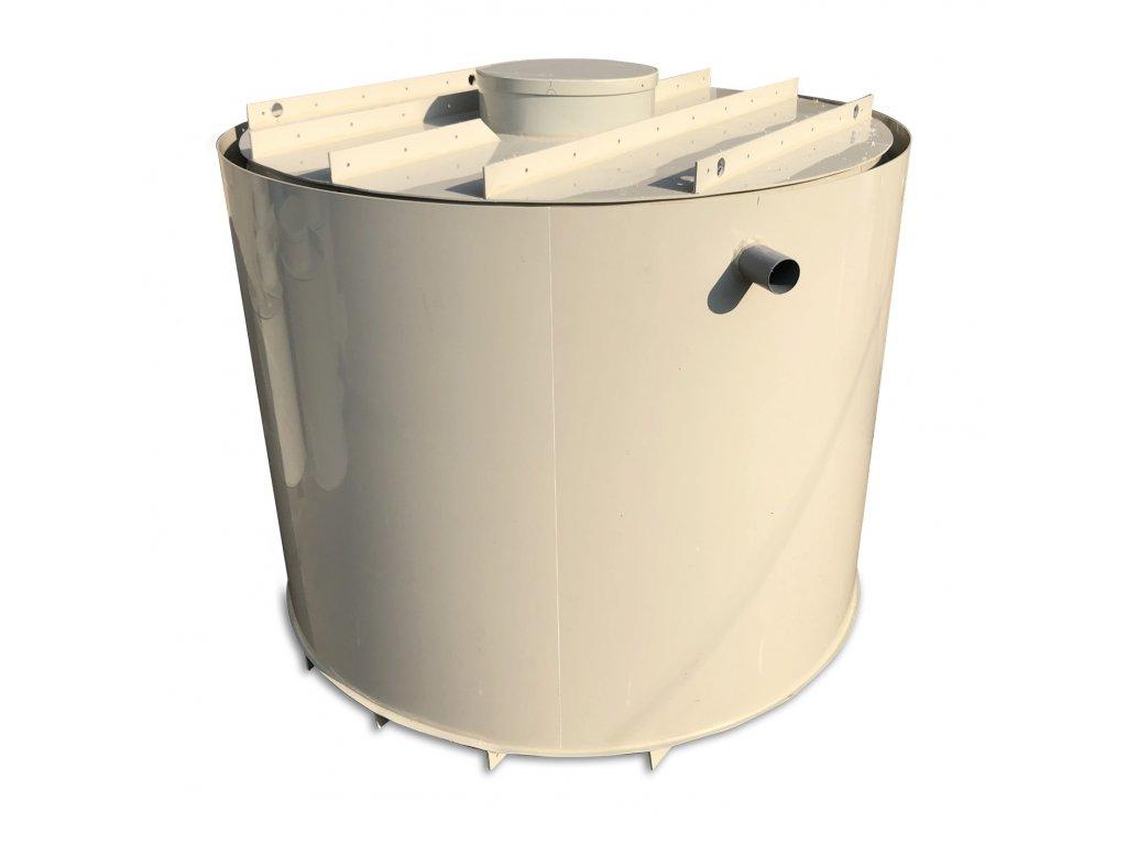 4m3 dvouplášťová kruhová nádrž na vodu