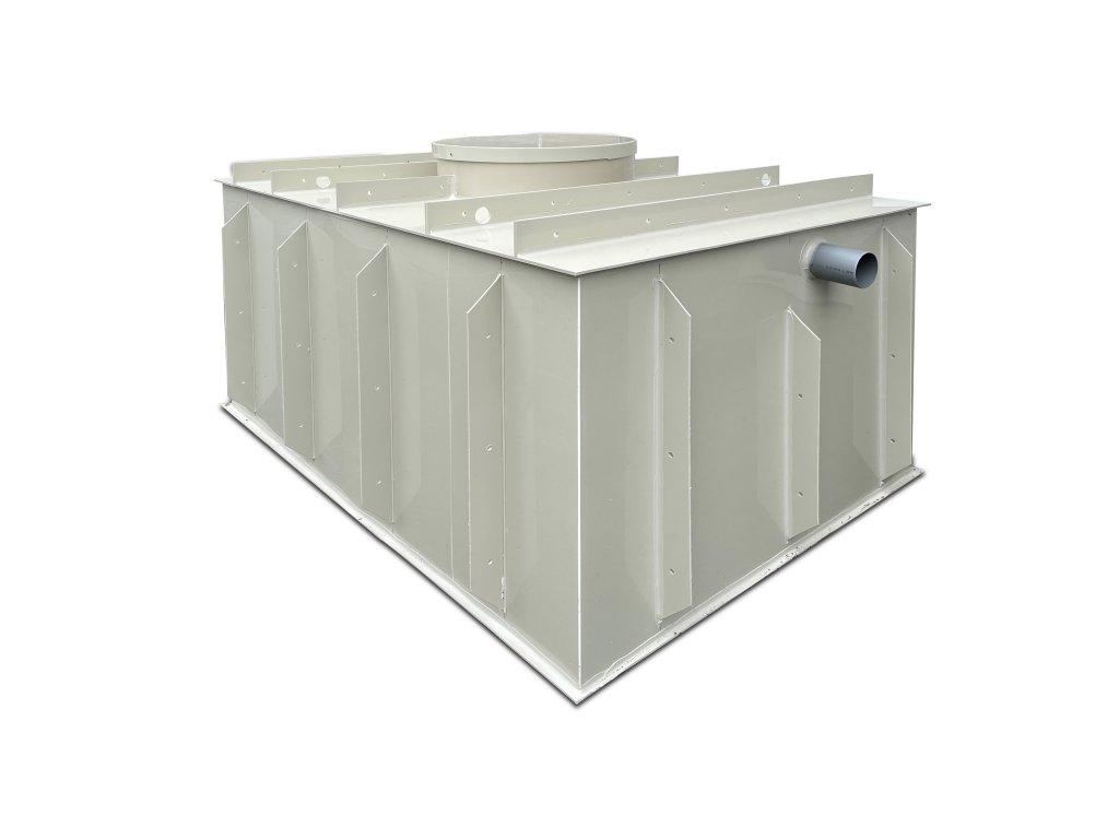 3,5m3 hranatý septik k obetonování