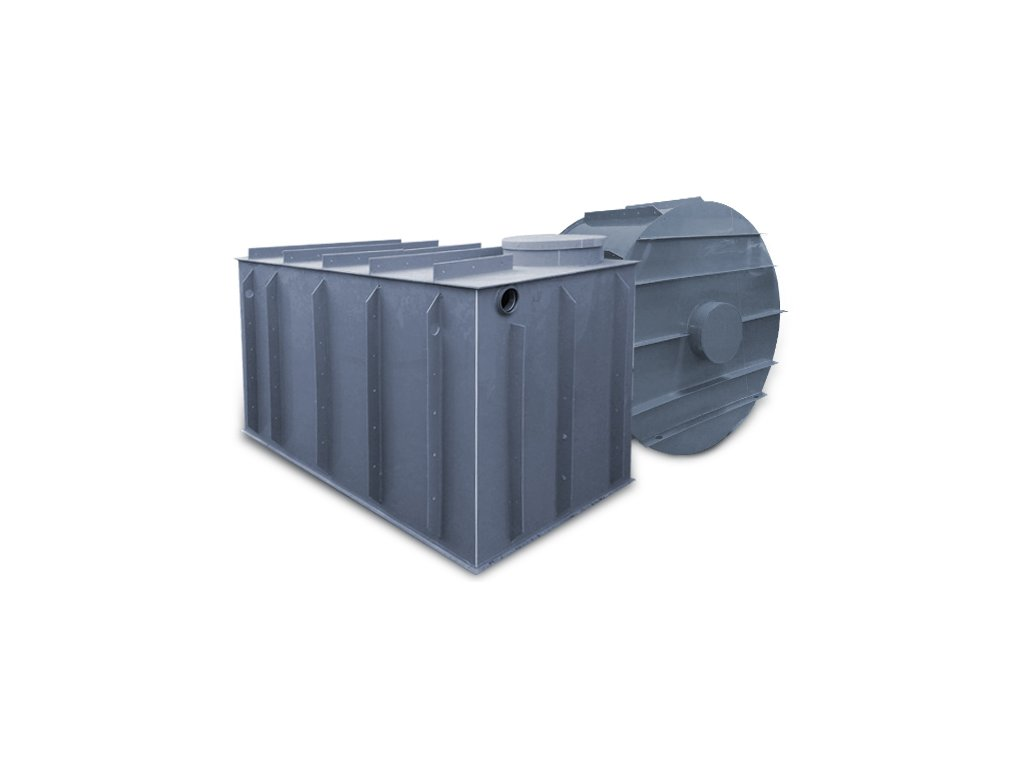 6m3 hranatý septik k obetonování
