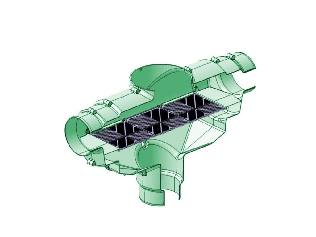 Filtr na dešťovou vodu DN110 XL do nádrže - filtr dešťové vody DN110 XL