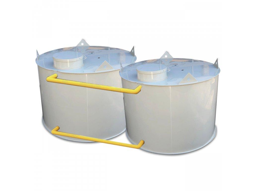 Požární nádrž 20m3 - samonosná kruhová (2*10m3)