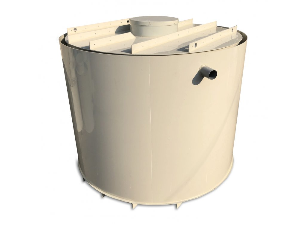 1,5m3 dvouplášťová kruhová nádrž na vodu