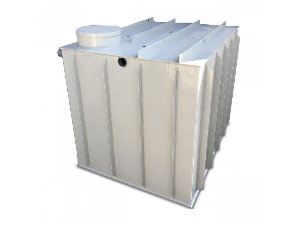 7m3 hranatá nádrž na vodu k obetonování