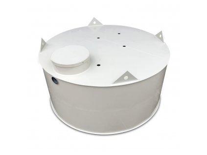 1,5m3 samonosná kruhová nádrž na vodu - NÍZKÁ